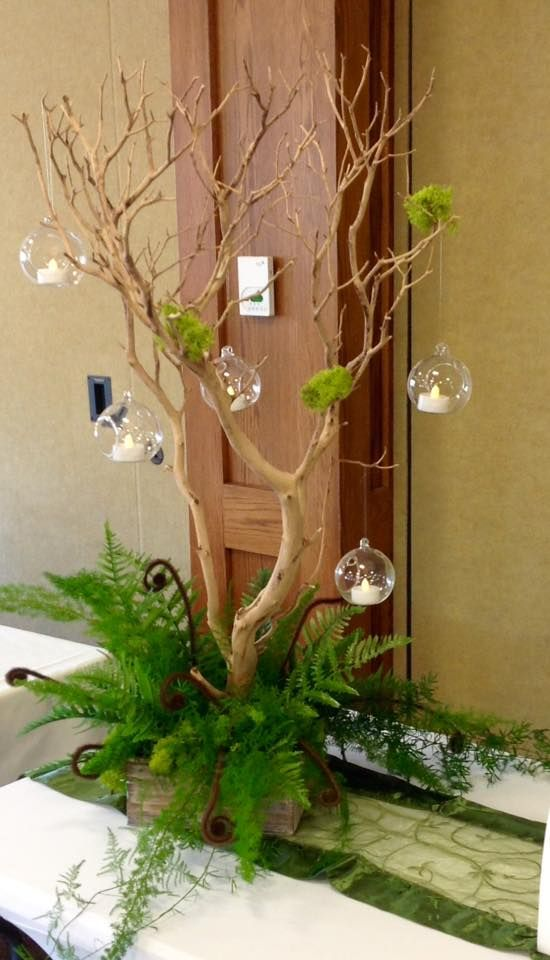 Enchanted forest theme centerpiece