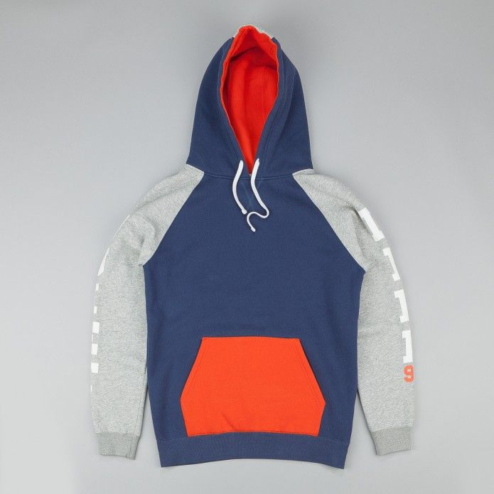 The Quiet Life Climber Hooded Sweatshirt - Navy / Orange / Heather                                                                                                                                                                                 More