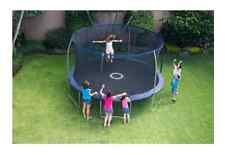 BouncePro 14' Trampoline with Enclosure and Game Blue Steel Frame Padded Poles Price: USD 374.95 | UnitedStates