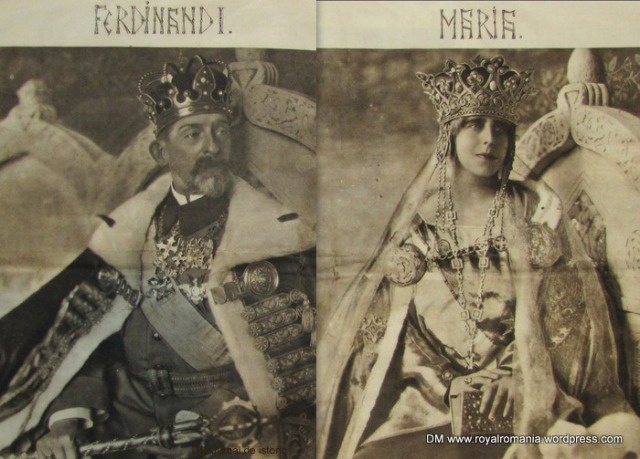 King Ferdinand I & Queen Marie of Romania w. Regalia, October 1922. ©Guggenberger Mairovits