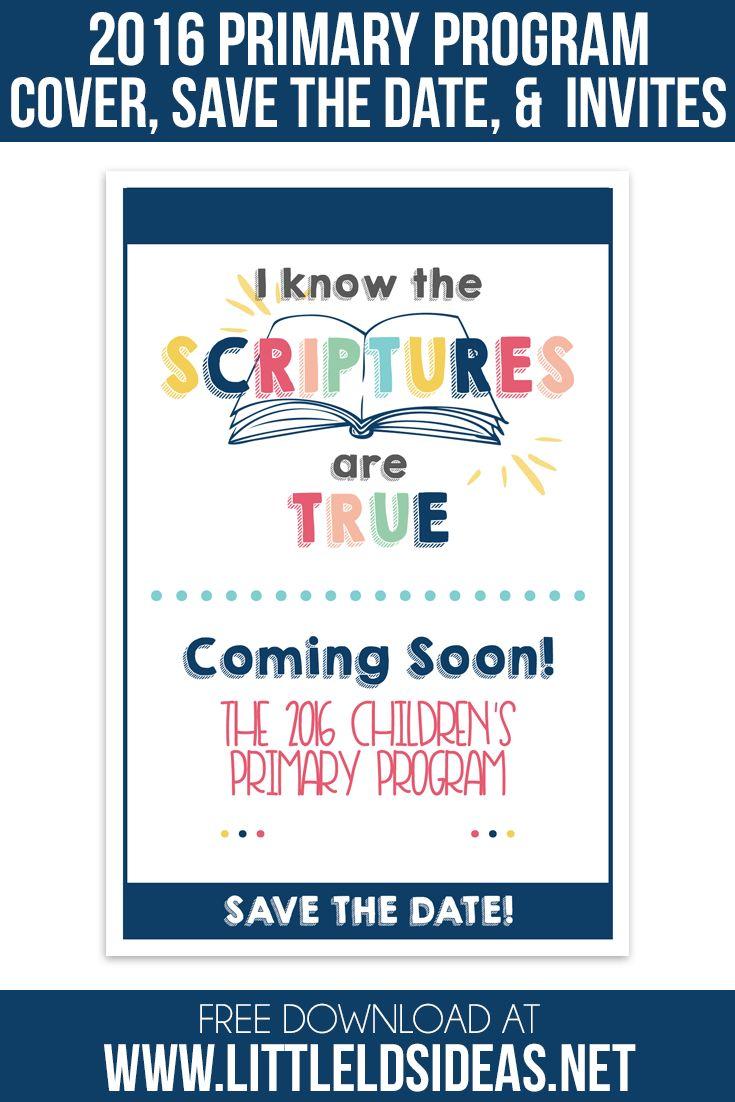 2016 LDS Primary Program Invitations & Program Cover: Little LDS IdeasLittle…