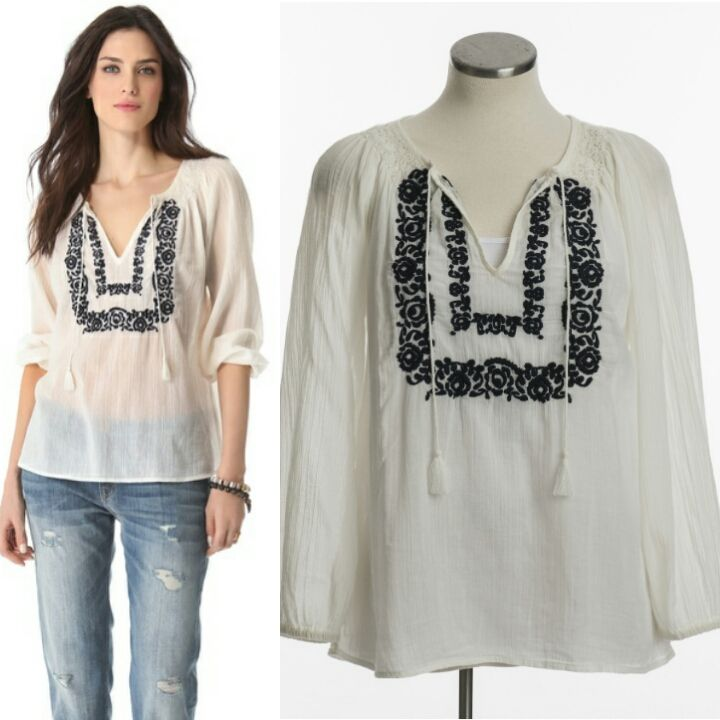 Joie Meliana Embroidered Tunic. Size S. $100.00. www.closetcollabo.ca/product/joie-meliana-embroidered-tunic/