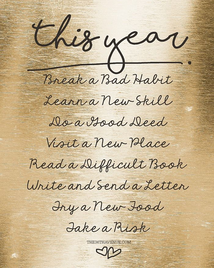 New Years Resolution Printable... PIN IT NOW AND PRINT IT LATER!