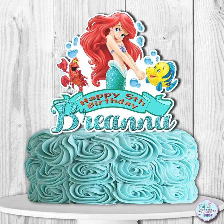 The Little Mermaid Cake Topper, The Little Mermaid Centerpiece, Princess Ariel Cake Topper, Ariel Cake Topper by AvaScharlizeShop on Etsy https://www.etsy.com/listing/506901311/the-little-mermaid-cake-topper-the