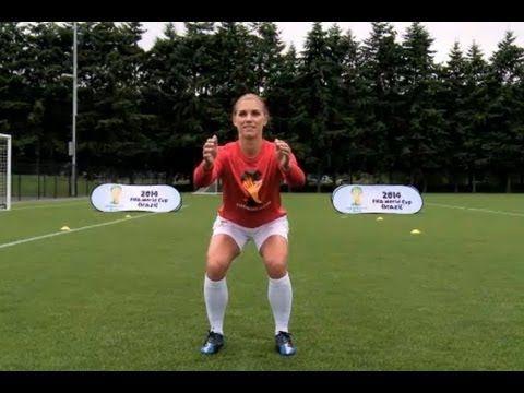 Alex Morgan Soccer Workout: Squats w/Toe Raise