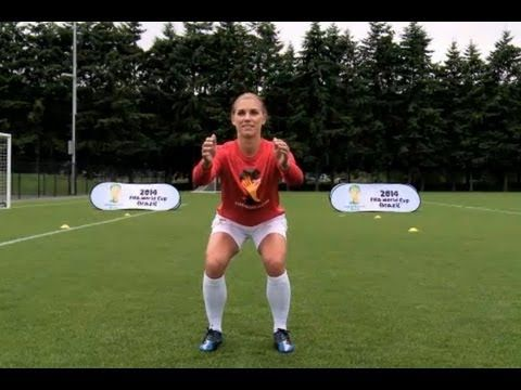 Alex Morgan Soccer Workout: Squats w/Toe Raise