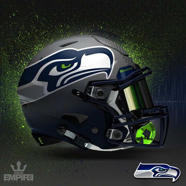 """""""Thought I would share my first NFL helmet concept. I'll post a team from time to time. Most of these will be minor tweaks of what the team my already…"""""""