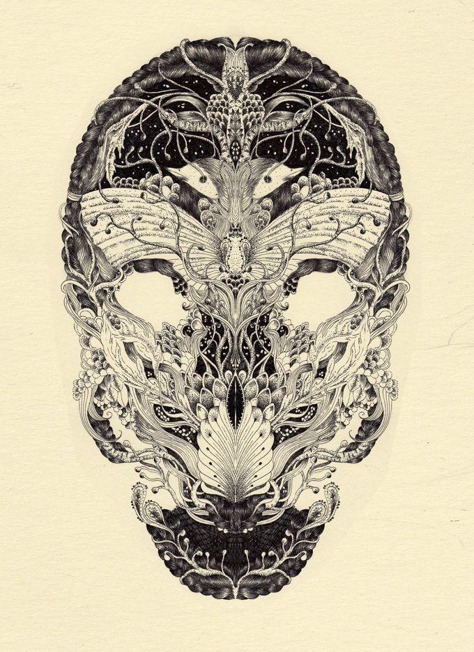 Anacridium test no.1 , gel ink on paper digital , 2011 .meyoko