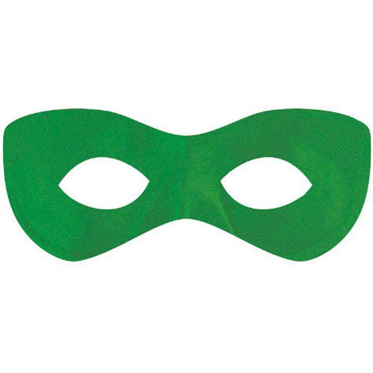 Green Superhero Disguise Mask