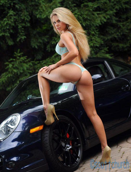 Long hair blonde girl with dar Porsche... #Karin #Noelle # ...
