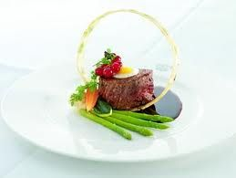 Fillet of Beef with asparagus and spun potato