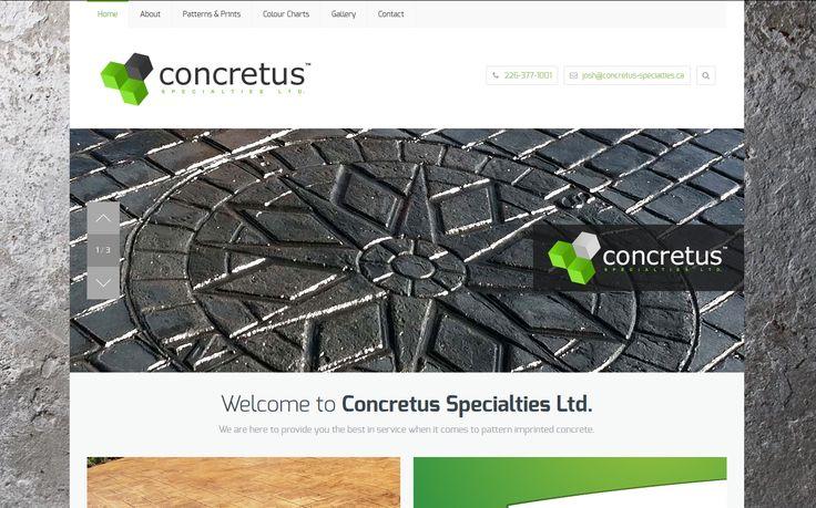 Check out Concretus Specilaties www,concretus-specialties.ca  #WebDevelopment #WebDesign #LondonOntario