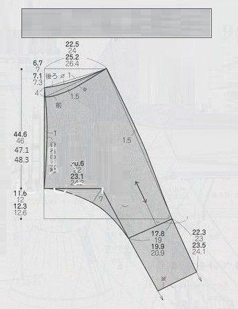 726 пальто комбинированное р-р 7, 9, 11 ( таб.№4) Не один в один ( пройма чуть разная ), но достаточно  похожий фасон был в Бурде см. тут , там  на модели пальто слишком свободным  выглядит ( то ли  …