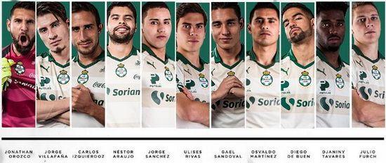 Jugadores del Club Santos Laguna de la temporada 2017/2018