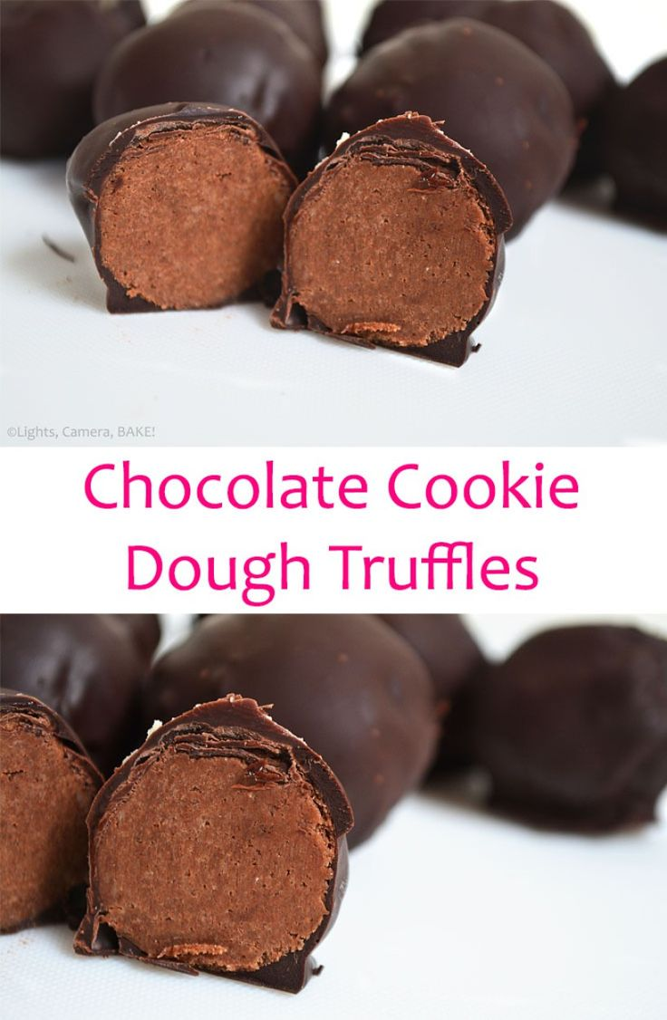 Chocolate Cookie Dough Truffles are a safe to eat, chocolate chip cookie dough that is rolled into balls and covered in melted chocolate. #cookiedough #chocolatecookiedoughtruffles #safetoeatcookiedough
