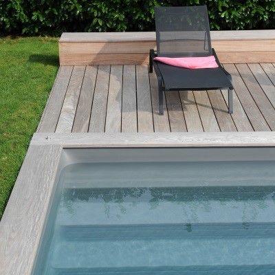 Les 25 meilleures id es de la cat gorie margelle piscine - Cache angle margelle piscine bois ...