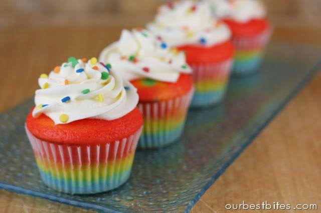 Rainbow Cupcakes~ 25 Best Cupcake Recipes