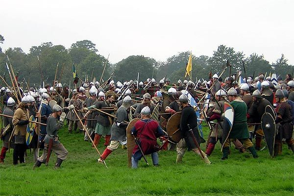 Re-enactors recreated the Battle of Hastings in 2006, 940 years after the actual battle. In 2016 it will be 950 years! Woo hoo!