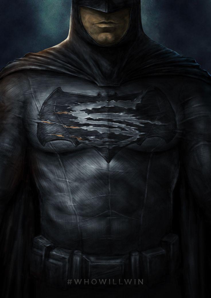 Artwork for a Batman v Superman contest.