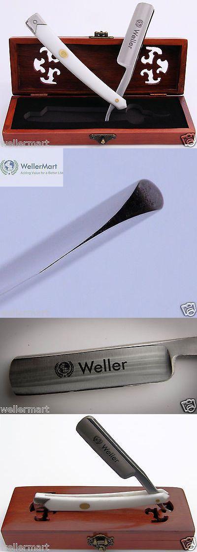 Straight Razors: Straight Razor - Wellermart 7/8 Hollow Ground. (Shave Ready) Wm0001 Wht BUY IT NOW ONLY: $34.99