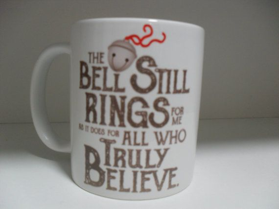 The polar express Quotes  11oz novelty christmas coffee by Smugs71