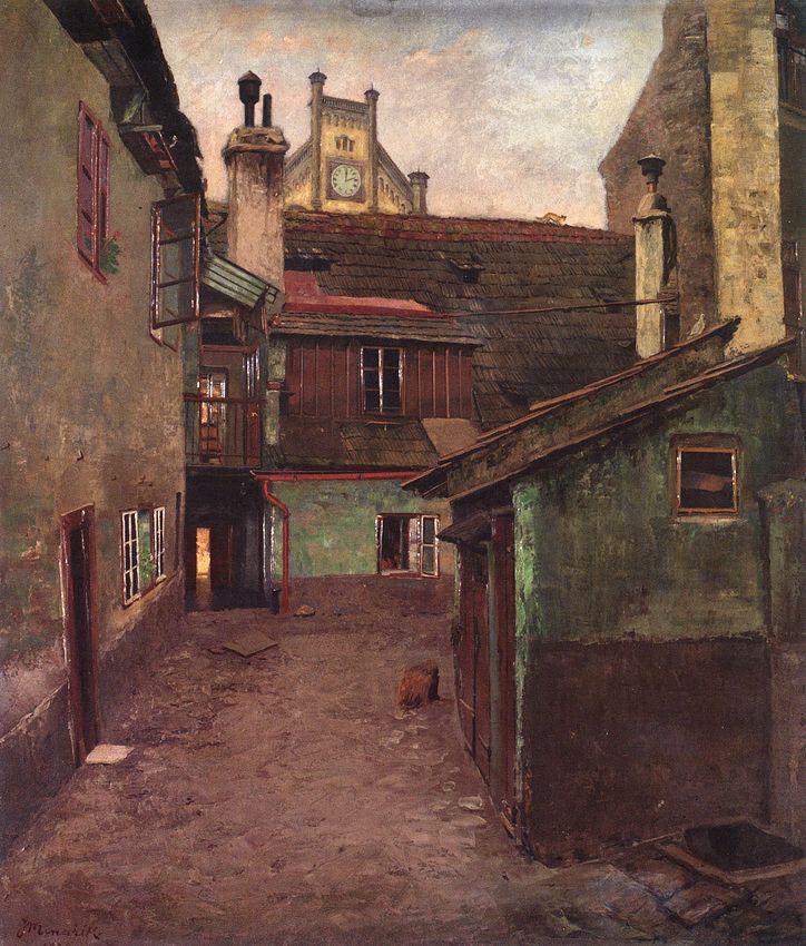Jan Minařík - Dvorek pod Vyšehradem (1909)