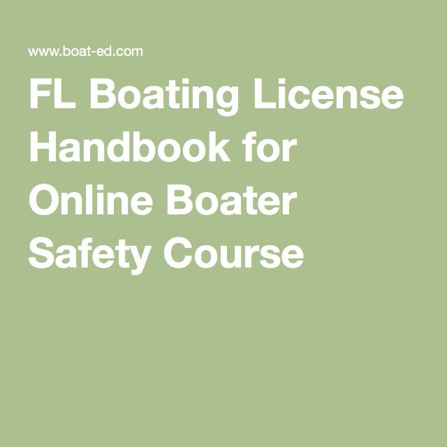 FL Boating License Handbook for Online Boater Safety Course