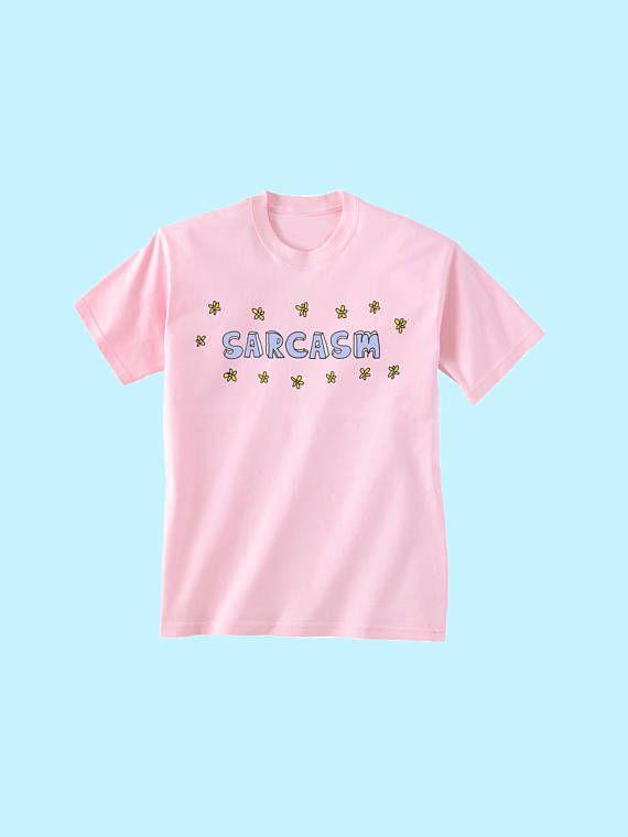 Sarcasm Tee, Harajuku Shirt, Vaporwave Shirt, Pastel Goth Shirt, Kawaii Shirt, Tumblr Shirt, Soft Grunge Rave, Aesthetic Tee