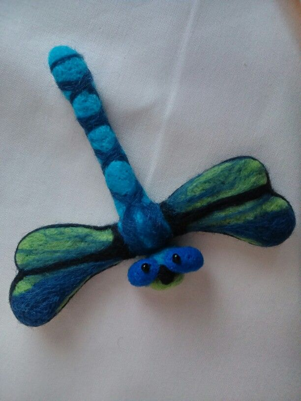 Dragonfly - felted brooch