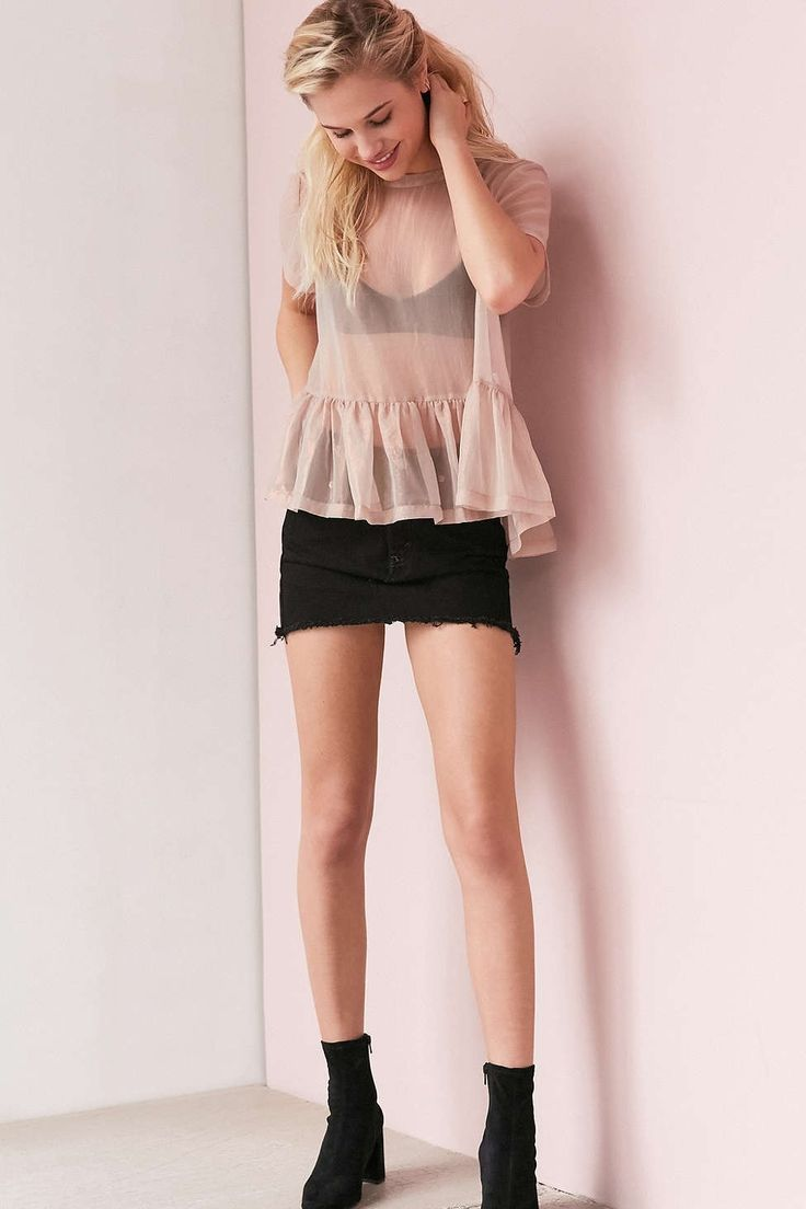 Kimchi Blue Lylee Peplum Layer Top - Urban Outfitters