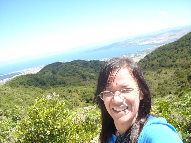 """""""Selfie"""" @ the Top of Mt Tauhara over-looking Lake Taupo NEW ZEALAND."""