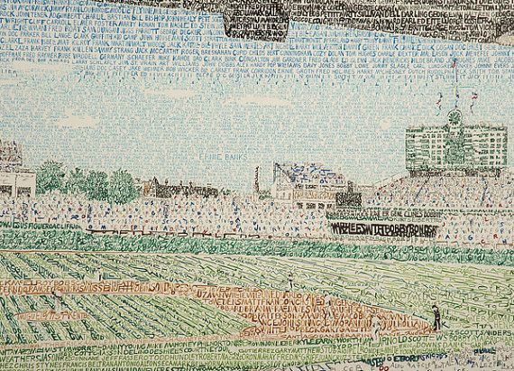 Campo de Wrigley Chicago Art Print por LegendarySportsPrint