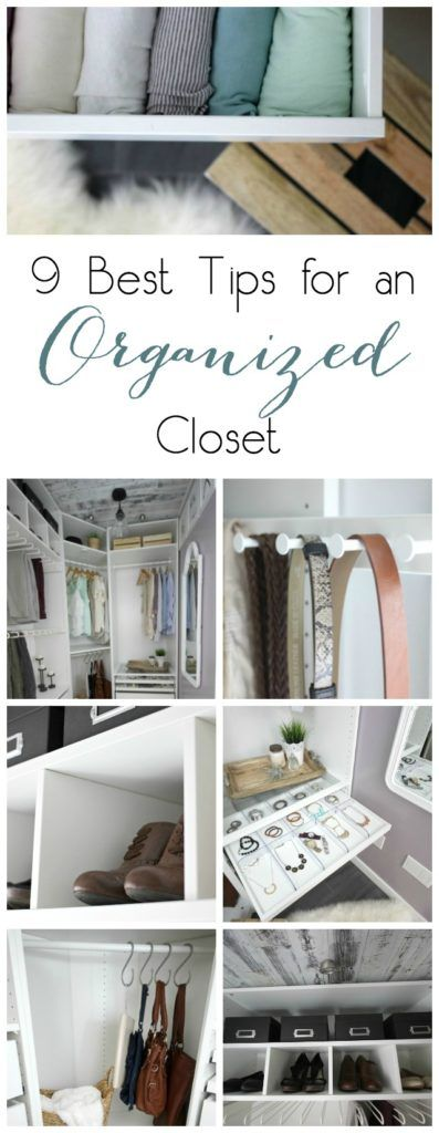 Great tips to bring your closet or wardrobe organization to the next level! Stay organized with these great, yet simple, ideas!