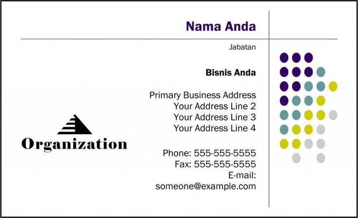 Template Kartu Nama - Free Download - Desain Vector - 38