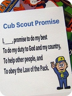 cub scout promise printable