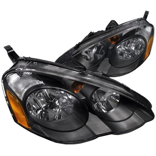 Spec D Tuning 2002 2004 Acura Rsx Jdm Headlights Head Lamps 02 03 04 Left Right Black Black Headlights Acura Rsx Acura