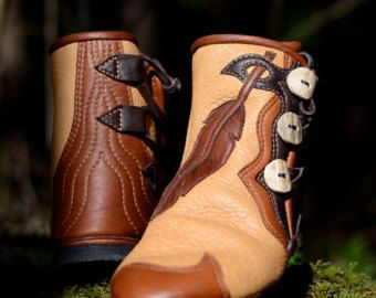 Vine & Leaf Moccasins  Custom Boots  Women's Moccasin