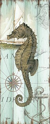 See this image on Roaring Brook Art: RB9407TS Antique La Mer Sea Creature Panel II