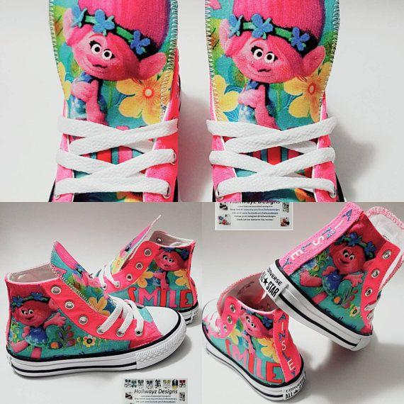 Dreamworks Trolls troll shoes Queen Poppy birthday pink
