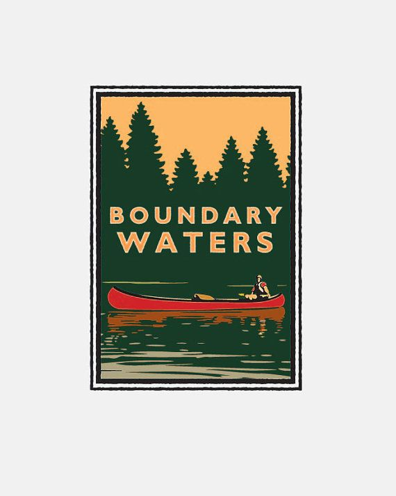 Landmark Series Boundary Waters MN by renowned by NumericPress, $3.95