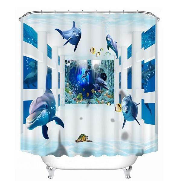 1000 images about 3d shower curtains on pinterest for 3d bathroom decor