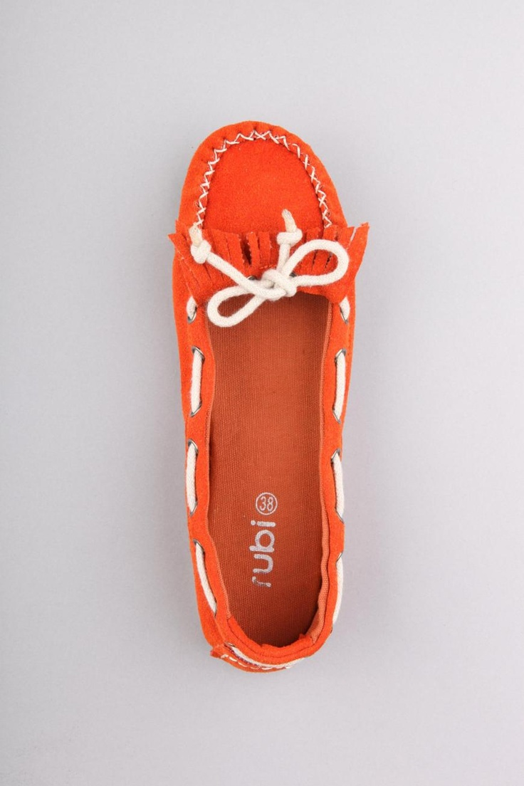 Gilligan moccasins in orange