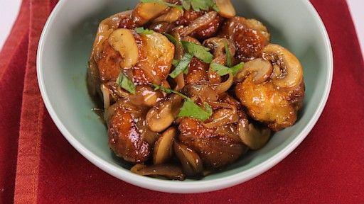 Chicken Meatballs Marsala
