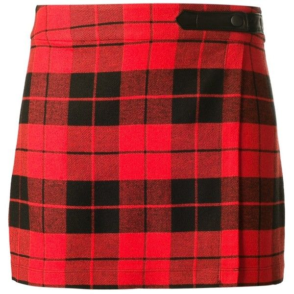ALICE+OLIVIA tartan skirt found on Polyvore