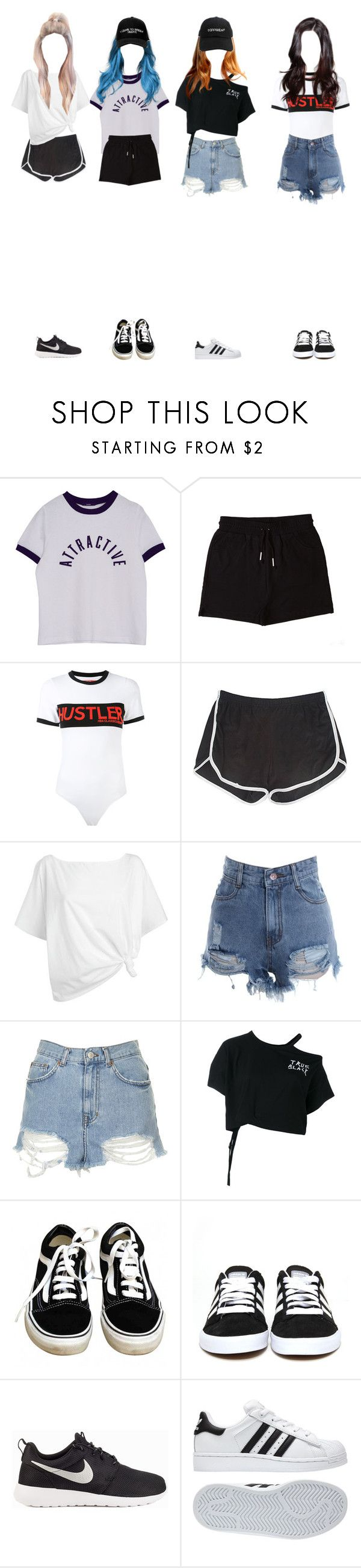 """Kpop Girl Group Dance Practice"" by x5sosfam-1dx ❤ liked on Polyvore featuring &nd B, Hood by Air, Red Herring, Topshop, Ann Demeulemeester, Vans, adidas, NIKE, Manolo Blahnik and RADisRAD"