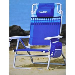 Nautica Beach Chair Blue Dots Received This As A Xmas