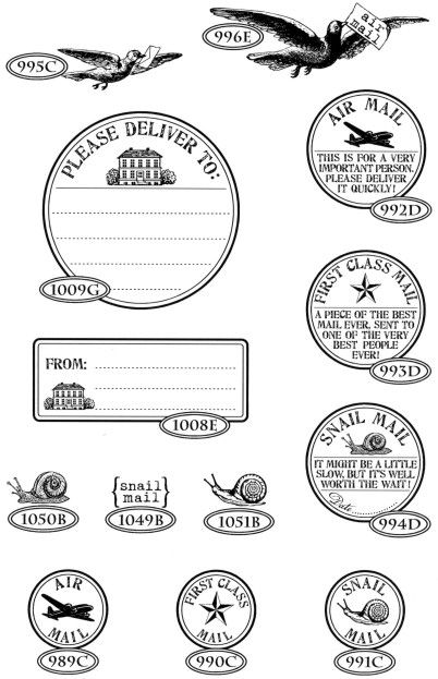 Catslife Press - air mail rubber stamps