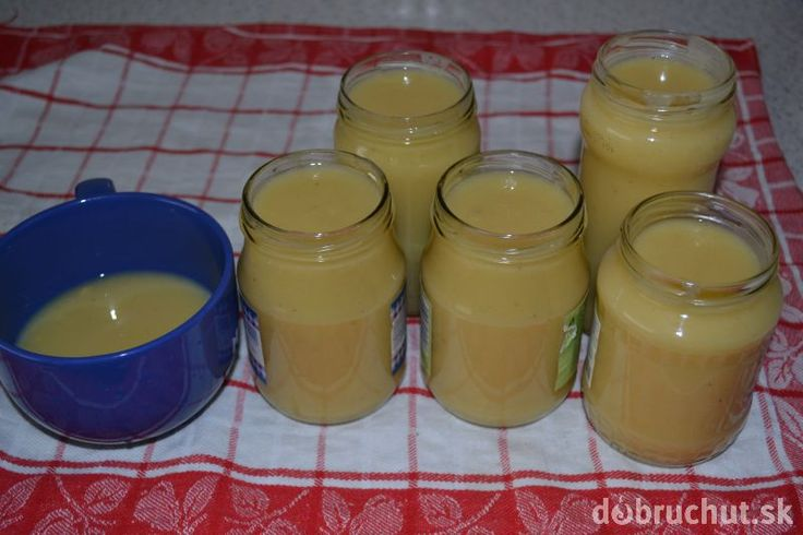 Fotorecept: Detská výživa s jablkami, banánom a pudingom