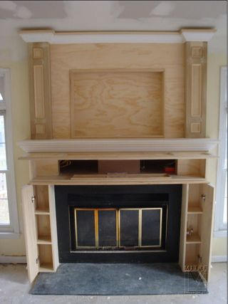 fireplace cabinetry builtins ours will have storage for stacking firewood on both sides - Fireplace Surround Ideas