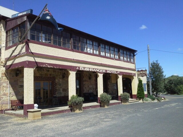 Bushranger Hotel at Collector near Canberra, where in 1865, Constable Samuel Nelson was shot and killed by John Dunn who was a member of Ben Hall's gang